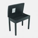 "OnStage KB8902B - скамейка, одноуровневая, деревянная,чёрная, класс ""делюкс"""